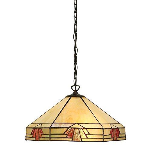 Preisvergleich Produktbild Nevada Medium Tiffany Stil Ein Licht Decke Anhänger - Interiors 1900 64285