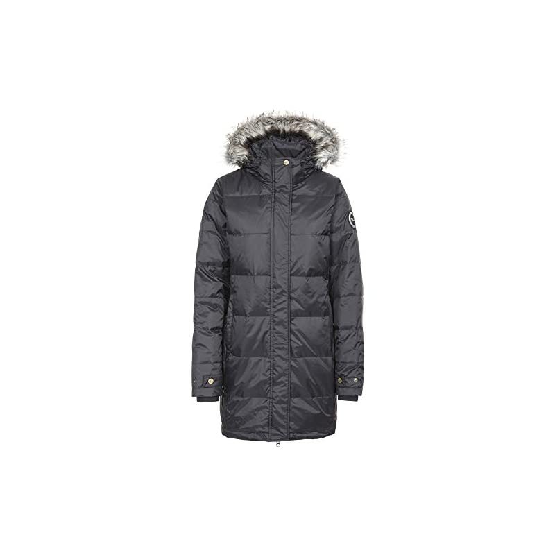 Trespass Women's Ophelia Warm Waterproof Down Jacket With Removable Hood