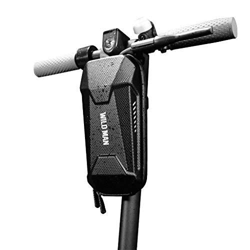 Upxiang Rollertasche für Xiaomi M365 für Ninebot ES1 ES2 ES3 ES4 Elektro Scooter Ersatzteile Tasche Hard Bag mit Reflektierendes Design Elektroroller Zubehör (Schwarz, 3L)