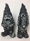 Halloween Zombie Ehepaar Garden Gnome Skelett Statuen