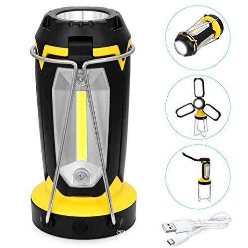 Tragbares wiederaufladbares Licht, faltbare LED-Taschenlampe, Arbeitshandlicht, Campingzelt, Outdoor-USB-Ladelampe