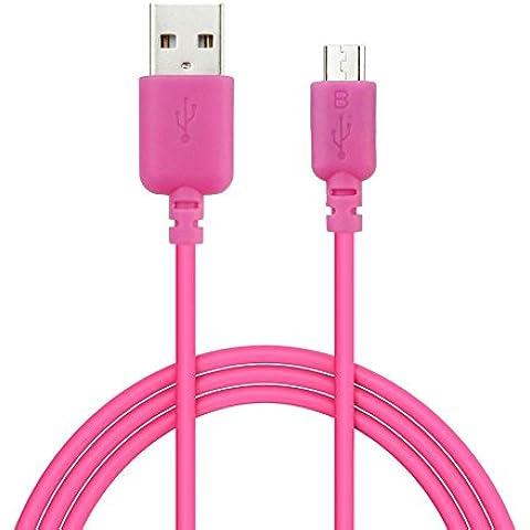 EZOPower EZCB15P - Cable USB 2.0 de carga y datos, 1.8m, color rosa