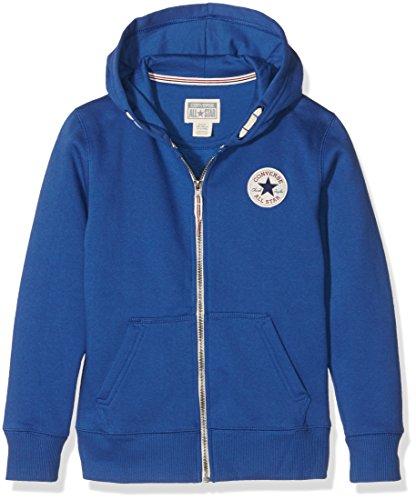 Converse C.T.P Core Zip, Pullover con Cappellopuccio Bambino, Blue (Roadtrip Blue/White), 7 Anni