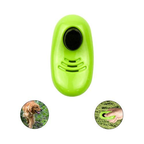 RoyalCare Clicker Hundetraining, Klickertraining Für Katzen Pferd Papageien Vogel, Sichere Und Humane Art, Hund Zu Trainieren, Stoppen Sie Zu Bellen, Töpfchen Behandelt Agility Training Tool Grün -