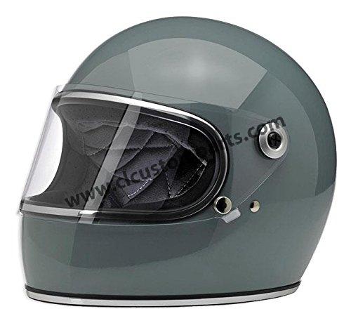 Casco Integrale Biltwell Gringo S Gloss Agave Lucido Helmet Vintage Retrò Anni 70 Custom Chopper Bobber Taglia XL