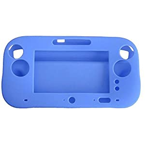 OSTENT Soft-Silikon-Full-Protection-Gel-Tasche Cover-Hülle kompatibel für Nintendo Wii U Gamepad Farbe Blau