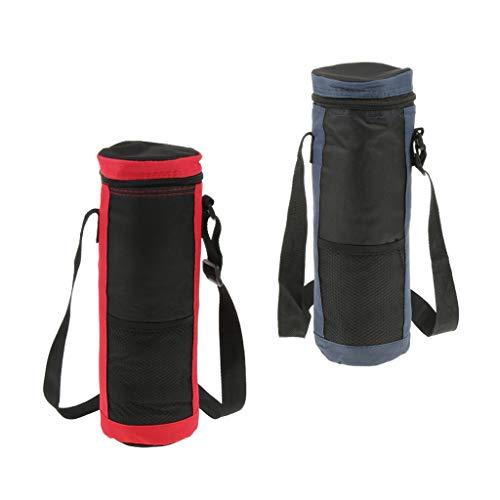 P Prettyia 2 stück Trinkflasche Kühltasche Wasserflasche Tragetasche für Camping