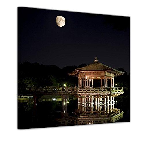Kunstdruck - Asien Nara - Bild auf Leinwand 60 x 60 cm - Leinwandbilder - Bilder als Leinwanddruck - Städte & Kulturen - Japan - geweihte Stadt Nara