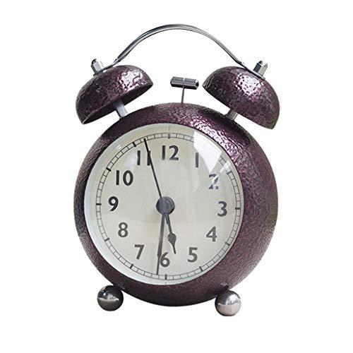 GWFVA Despertador Bell Luz Nocturna Mudo Sencillo Multifuncional Cabeza de Cama Hogar...