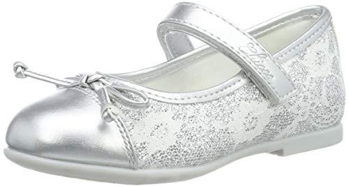 Chicco Baby Mädchen Bebe'/Ballerina Cleliana Riemchenballerinas, Silber (Argento/020 020), 30 EU - 30 Büschel
