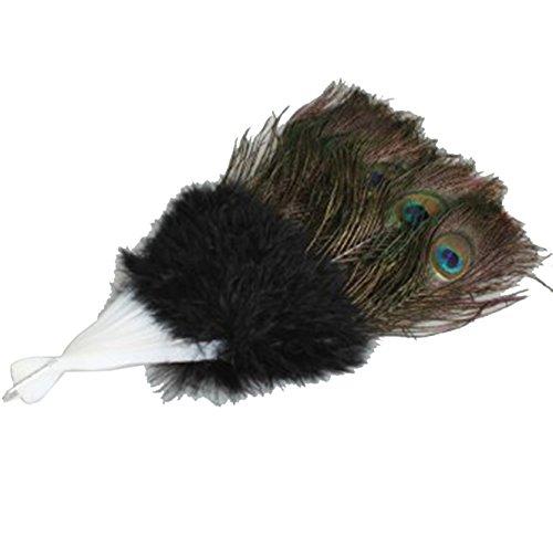 Dance Fairy Pfau Feder Bauchtanz Handventilator beste Halloween Geschenk (Kostüme Easy Sports Halloween)