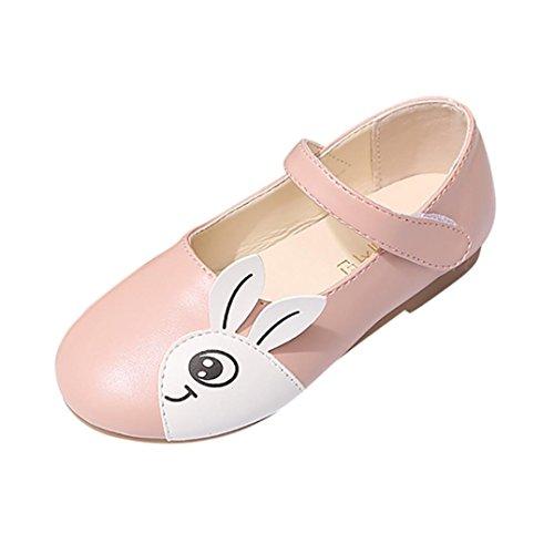 HUIHUI Baby Schuhe, Kaninchen Cartoon Einzelne Schuhe Kinder Pricness Beach Sandals Mädchen Hausschuhe Mary Jane Halbschuhe Soled Anti-Slip Shoes (28 (Jahr4-4.5), Rosa)