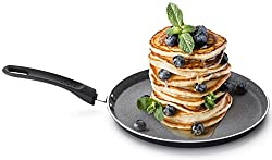 ROSMARINO Crepespfanne Induktion 25 cm, Pancake Pfanne Premium Pfannkuchenpfanne Induktion | Crepepfanne, Protein Pancakes Testsieger