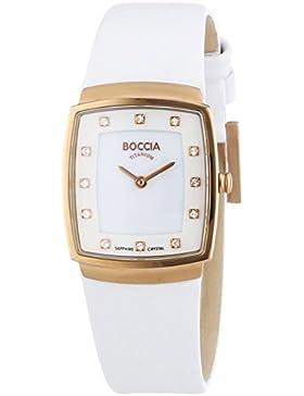 Boccia Damen-Armbanduhr XS Titanium Analog Quarz Leder 3237-03
