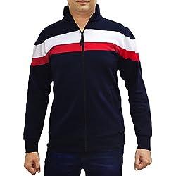 AWG Men's Premium Multicolour Sweatshirt with Zip - AWG-SSLZTOM-L