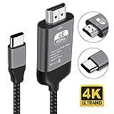 Kdely Câble USB C vers HDMI, Compatible avec pour MacBook Pro 2017/2018, Dell XPS...