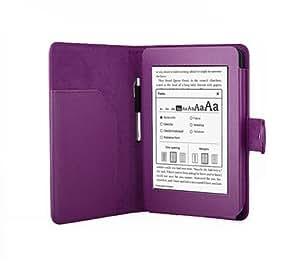 Leder-Hülle mit Magnetverschluss für Amazon Kindle Paperwhite 15 cm (6 Zoll) Display - (purple)