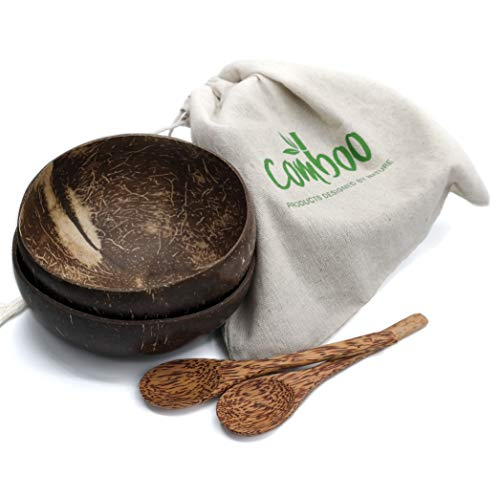 comboo® - Coconut Bowl I Original Kokosnuss-Schale I Buddha Bowl I Poliert I 100{909392f83e37ad163daacb831b12b2a89d45aa879b8ed6c1eea0b06000ea6abe} Natürlich & Handgefertig