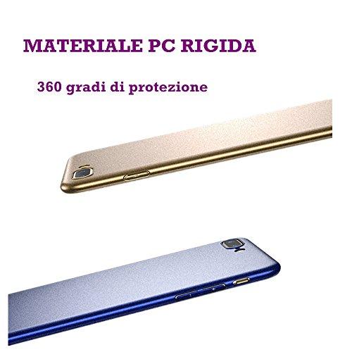 Cover iphone 7,FLOVEME Custodia Ultra Sottile Anti Graffio Resistente Copertura Protettiva in Plastica Dura iphone 7 Case, Oro Argente