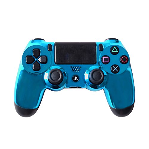 Controller Front Shell für Sony PS4 Controller - Case für Playstation 4 Controller Dualshock 4 Shell Ersatz - Custom Cool PS4 Controller Shell Fall Deckung PS4 Controller Shells - Chrome Blue (Fernbedienung Sony Ps4)
