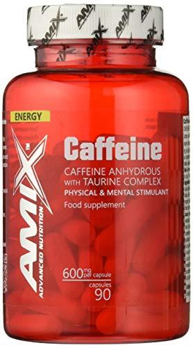 Amix Cafeína y Taurina Energético, Cápsulas, 500 gr