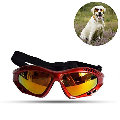 eFUture Gafas de Sol para Mascotas con protección para los Ojos, protección UV400 para Perros, Resistentes al Agua, Resistentes al Viento, para Cachorros y Gatos medianos y Grandes