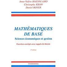 Mathématiques de base : Sciences économiques et gestion