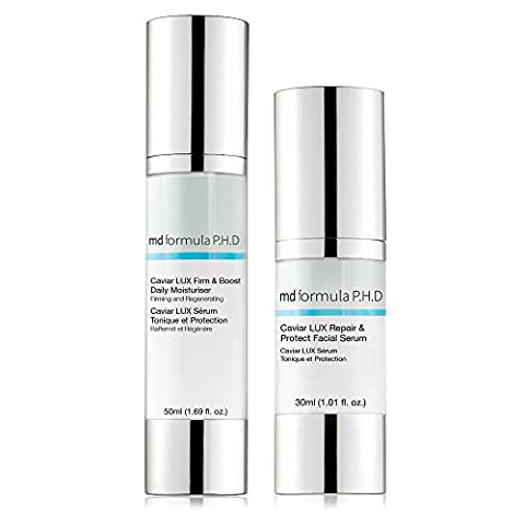 MD Formula P.H.D Caviar LUX Repair/Protect Facial Serum/Firm and Boost Daily Moisturiser - Pack of