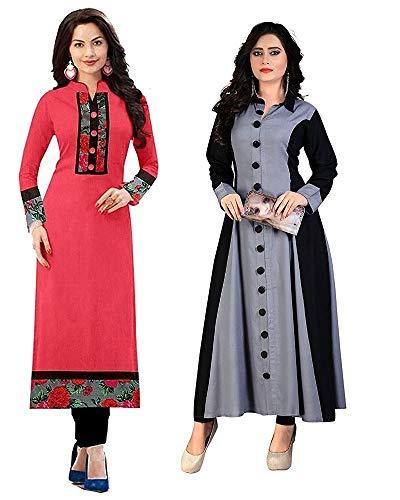 Pramukh Fashion New Semistichead pack of 2 kurtis combo