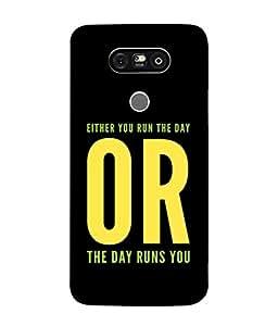 Fuson Designer Back Case Cover for LG G5 :: LG G5 Dual H860N :: LG G5 Speed H858 H850 VS987 H820 LS992 H830 US992 (Inspirational Day Run Walk Positive)