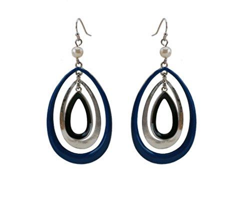 WKAIJCJ Earrings Ladies Earrings Temperament Multilayer Fashion Earloop Creative Personality Simple 3.3*7.2cm