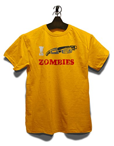 I Shotgun Zombies Vintage T-Shirt Gelb