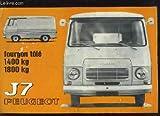Notice technique du J7 Peugeot, fourgon tôlé 1400 kg et 1800 kg. Modèle 1970