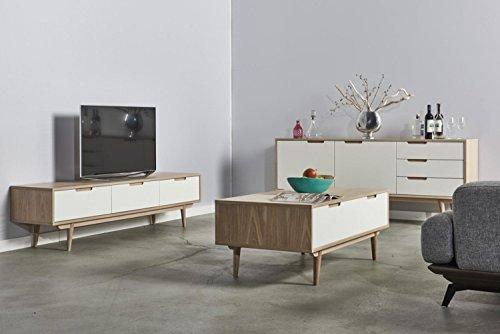 cagusto lowboard flemma 180 x 40 x 45 tv schrank wei matt holz eiche gebleicht fernsehtisch. Black Bedroom Furniture Sets. Home Design Ideas