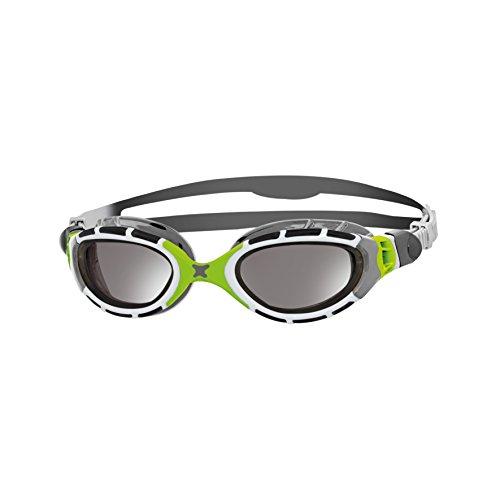 Zoggs Predator Flex Titanium Schwimmbrille, Grey/Green/Mirror, One Size