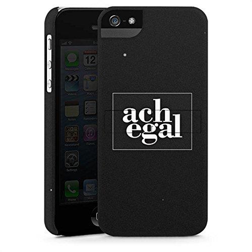 Apple iPhone X Silikon Hülle Case Schutzhülle Sprüche Ach egal Schwarz Premium Case StandUp