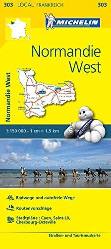Michelin Normandie West: Straßen- und Tourismuskarte 1:150.000 (MICHELIN Localkarten) -