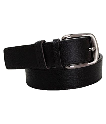 Kesari's Black Leather Casual Belts  available at amazon for Rs.197