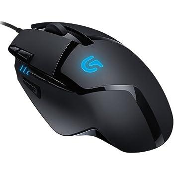 Logitech G402 - Ratón para gaming (con 8 botones programables Hyperion Fury) color negro