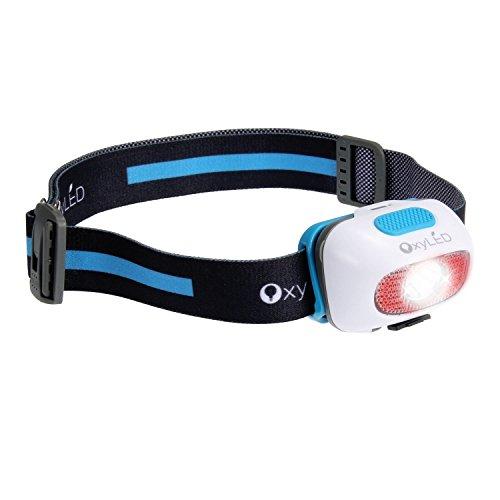 Stirnlampe Led Wasserdicht, OxyLED USB Wiederaufladbare Superheller LED Stirnlampe, Wiederaufladbare AAA Batterien & USB, LED Kopflampe,Kopfleuchten,  9 Beleuchtungs-Modi & SOS Whistle, verstellbar Lichtstrahl-Winkel u. Stirnband, Perfekt fürs Joggen, Gehen, Campen, Lesen, Laufen, für Kinder und mehr, inklusive USB Kabel, HL-02