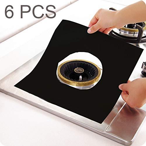 6 PCS, Gasherd-Oberflächenschutz Reinigungspad, ultradünne Fasermaterialgröße: 27 * 27cm ()