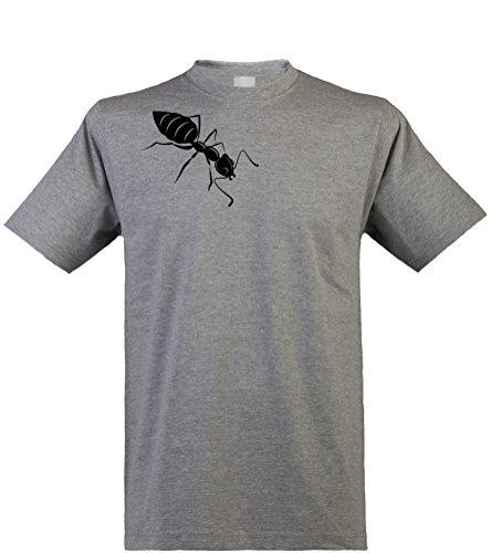 Klamottenkiste24 Herren T-Shirt, Ameise, Heathergrey, Gr. XL