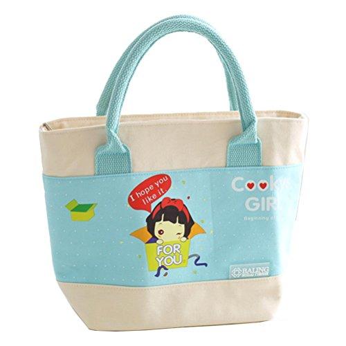 7fbf5d8f6 YUSHI Bolsa de Aislamiento de la Hoja de Dibujos Animados Paquete de  Almuerzo Alimentos Frescos Estudiantes