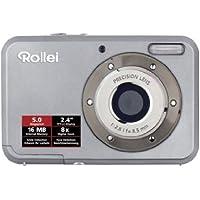 Rollei Compactline 52 Digitalkamera (5 Megapixel, 8-fach digital Zoom, 6,1 cm (2,4 Zoll ) Display) silber