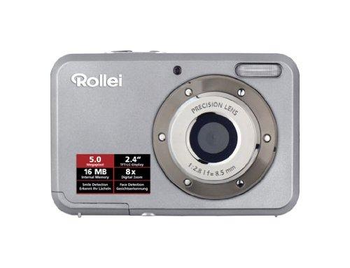 ROLLEI COMPACTLINE 52 - CAMARA DIGITAL COMPACTA  5 MP ( 2 4 PULGADAS  8X ZOOM OPTICO) - PLATA (IMPORTADO)