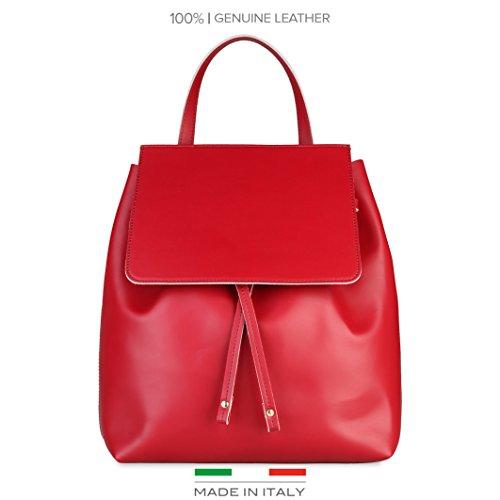 Made In Italia  Carmen, Sac à main porté au dos pour femme Rouge/Blanc