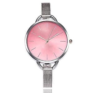 Armbanduhr Damen Ronamick Vansvar beiläufige Quarz Edelstahlband Newv Bügel Uhr analoge Uhr Armbanduhr Armband Uhr Uhren (A)