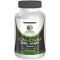 CALCIUM DEL MAR | Natürliches Kalzium aus der Rotalge | 180 hochdosierte Kapseln | Premium Qualität aus Deutschland