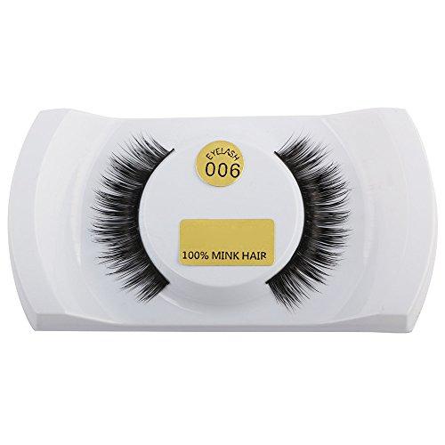 Künstliche Wimpern,Rifuli® 3D Wimpern Nerz natürliche dicke falsche falsche Wimpern Wimpern Make-up Extensions Eyelashes Falsche Magnetische Wimpern KlebstoffWiederverwendbare