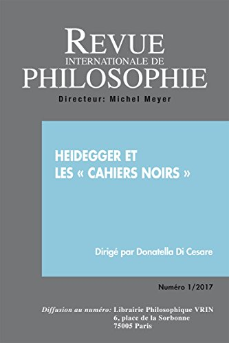Heidegger et les Cahiers Noirs (RIP 279 2017/1)